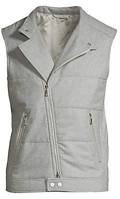 Eleventy Men's Quilted Wool, Silk & Cashmere Vest