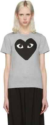 Comme des Garçons Play Grey Heart T-Shirt $120 thestylecure.com