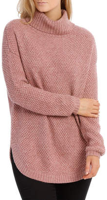 Regatta Dusty Pink Fancy Knit Long Sleeve Roll Neck Jumper