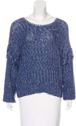 Ulla Johnson Fringe-Trimmed Bateau Neck Sweater