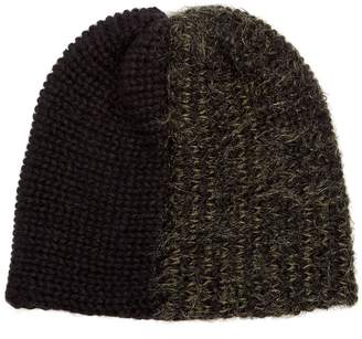 REINHARD PLANK HATS Bi-colour wool-blend beanie hat