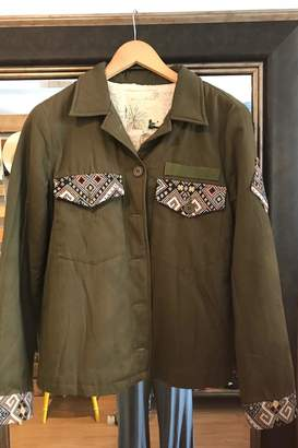 En Creme Olive Lined Jacket