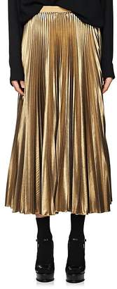 Dries Van Noten Women's Grosgrain-Accented Pleated Skirt