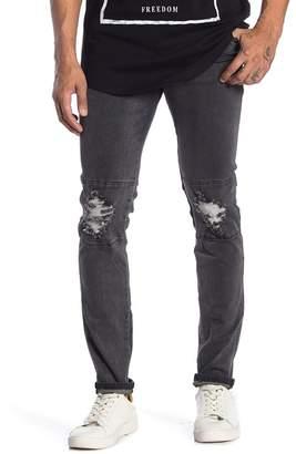 nANA jUDY Distressed Faded Skinny Jeans