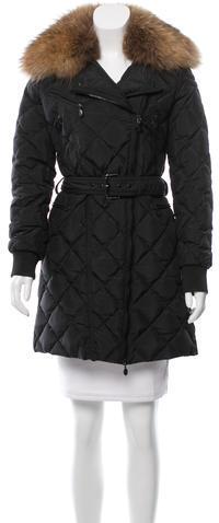 MonclerMoncler Fur-Trimmed Milbrook Coat