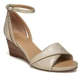 Franco Sarto Deirdra Metallic Shimmer Wedge Sandals
