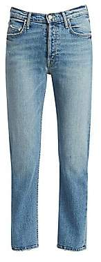 Mother Women's Tomcat High-Rise Straight-Leg Ankle Jeans