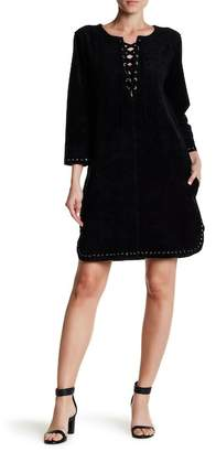 Velvet by Graham & Spencer Raleigh Long Sleeve Lace-Up Dress