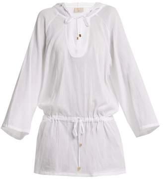 Albus Lumen - Luna Hooded Cotton Kaftan - Womens - White