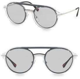 Prada 51MM Linea Rossa Oval Aviator Sunglasses