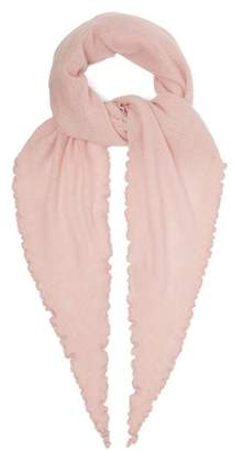 Allude - Fine Knit Cashmere Scarf - Womens - Pink