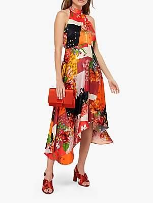 e1e0c3de99ee Monsoon Piper Patch Print Hanky Hem Dress, Orange/Multi