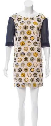 Karen Walker Printed Silk Dress