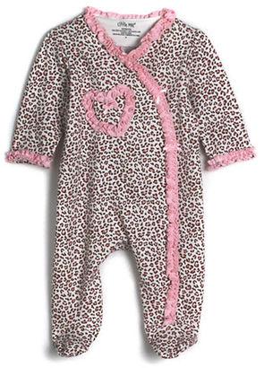 Little Me Newborn Girls 0-9 Months Cotton Leopard Print Footie Coveralls $11.95 thestylecure.com