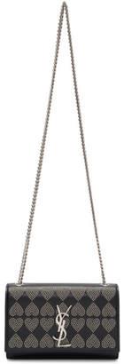 Saint Laurent Black Micro Stud Small Kate Chain Bag