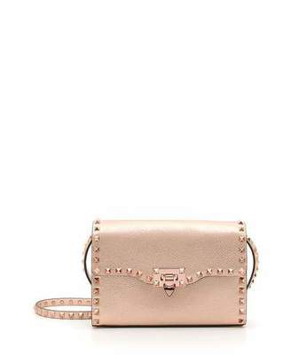 Valentino Rockstud Medium Metallic Leather Shoulder Bag