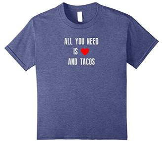 Funny Valentines All You Need is Love and Tacos Tee Shirt