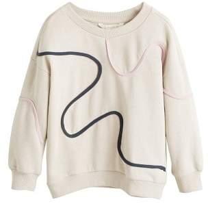 MANGO Contrasting trims cotton sweatshirt
