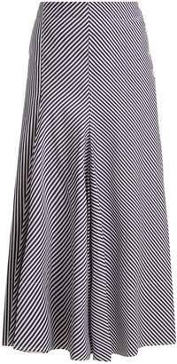 Joseph Smith striped side-button midi skirt