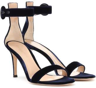 Gianvito Rossi Exclusive to Mytheresa – Portofino 85 velvet sandals