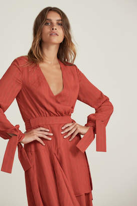 Finders Keepers FOUNDATIONS MIDI DRESS rust