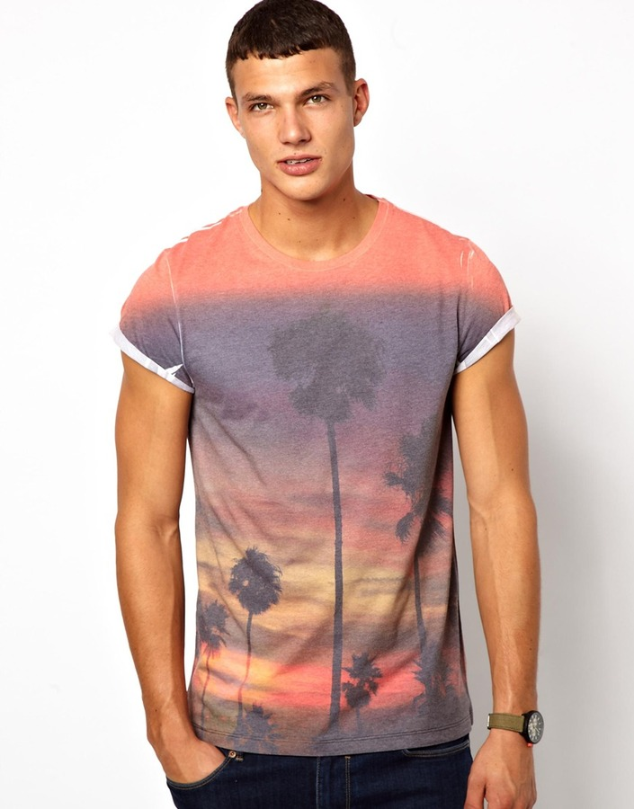 Asos T-Shirt With Sublimated Tropical Print