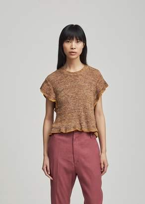 Etoile Isabel Marant Bering Ribbed Linen Sweater Ochre