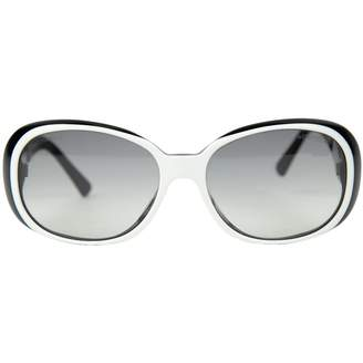 Chanel White Plastic Sunglasses