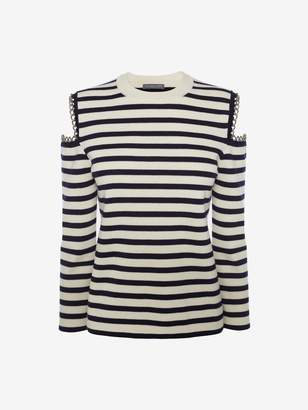 Alexander McQueen Chain Stripe Knit Sweater