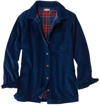 L.L. Bean L.L.Bean Women's Comfort Corduroy Big Shirt, Lined