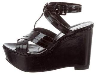 Robert Clergerie Patent Leather Platform Wedges