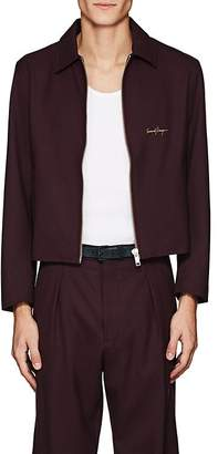 SECOND / LAYER Men's Embroidered Stretch-Wool Jacket