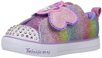 Skechers Girls' Shuffle LITE-Sparkle PALS Slip On Trainers, (Multicolour Mlt), 6 (23 EU)