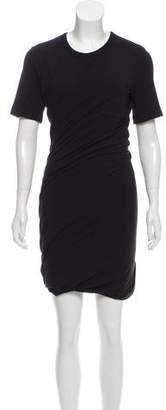 Alexander Wang Ruched Short Sleeve Dress