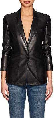 Giorgio Armani Women's Leather One-Snap Blazer