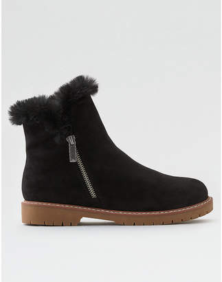 American Eagle Fur-Lined Zip Boot