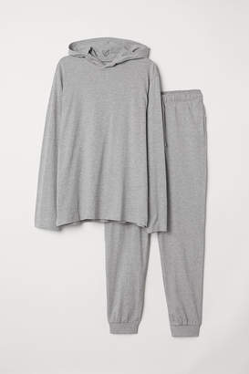 H&M Pajamas with Hooded Shirt - Gray