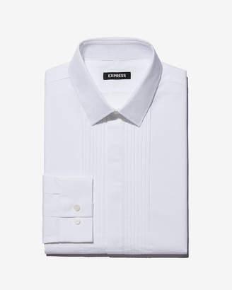 Express Classic Fit Pleated Tuxedo Dress Shirt