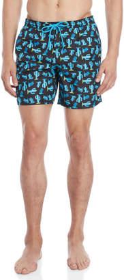 Sundek Cactus Print Swim Shorts