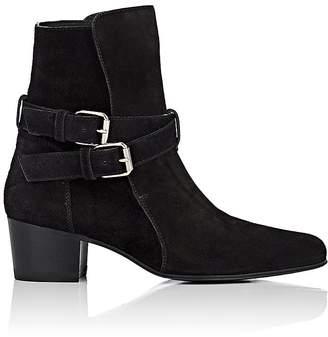 Amiri Women's Buckle-Strap Suede Jodhpur Boots
