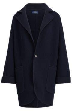 Ralph Lauren Single-Button Wool Coat Navy M