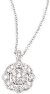 Effy White Diamond & 14K White Gold Pendant Necklace