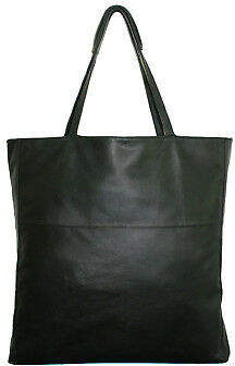 NEW Black leather tote Women's by Raku Collection
