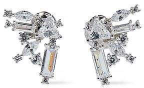 Noir Rhodium-plated Crystal Earrings