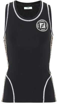 Fendi Racerback technical fabric tank top