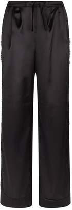 I.D. Sarrieri Silk Lace-Trim Pyjama Bottoms