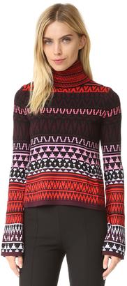 McQ - Alexander McQueen Fair Isle Turtleneck Sweater $350 thestylecure.com