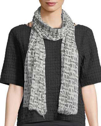 Eileen Fisher Sheer Organic Cotton/Silk Cipher Scarf