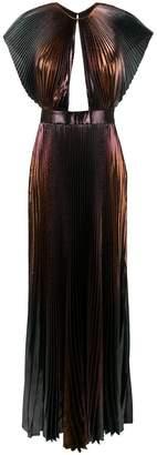Givenchy micro pleated maxi dress