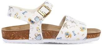 MonnaLisa Sailor Printed Faux Leather Sandals